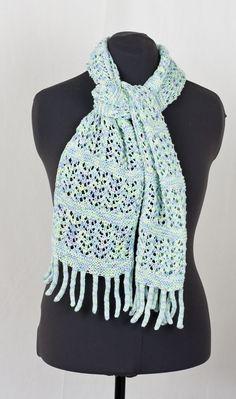 Knitting Patterns Galore - Sateen Macaroni Scarf Free Knitting, Knitting Patterns, Sport Weight Yarn, Knit Crochet, Crotchet, Cascade Yarn, Lace Scarf, Crochet Projects, Scarves