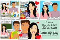 Convites de casamento - Quadrinhos