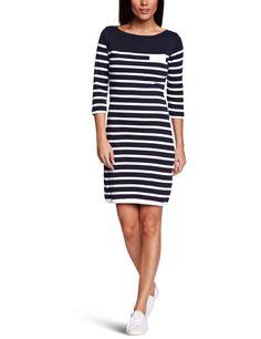 Henri Lloyd Fabiola Stripe Women's Jersey Dress French Navy Large: Amazon.co.uk: Clothing