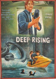 Deep Rising. Carteles de cine en los 80 en Ghana. http://www.yorokobu.es/cartelesghana/