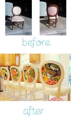Louis style chair makeover... I love the pop of color