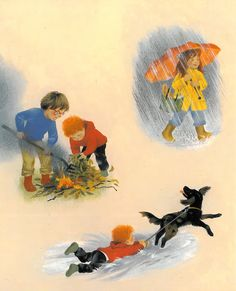 """""""Autumn"""" - part of a series of illustrated board books about the seasons. From Floris Books Autumn Crafts, Retro Illustration, Toddler Activities, My Childhood, Little Boys, Childrens Books, Book Art, Seasons, Junk Journal"""