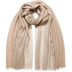 Brunello Cucinelli Silk-Cashmere Scarf featuring polyvore, fashion, accessories, scarves, beige, cashmere shawl, silk scarves, wrap shawl, silk wrap shawl and pure silk scarves