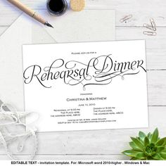 Dinner Invitation Template Fascinating Eat Drink And Be Married Printable Rehearsal Dinner Invitations .