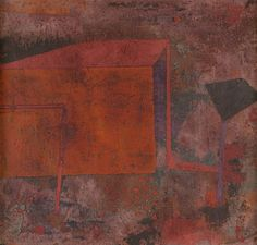 Paul Klee - Red House (Rotes Haus) [1929] [San Francisco Museum of Modern Art - Oil on canvas mounted on cardboard, 25.4 × 27.6 cm]