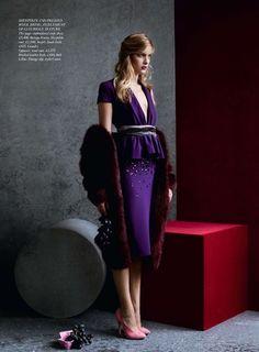Ophelie Rupp by Julia Hetta for Harper's Bazaar UK (September 2012). Bottega Venetadress.