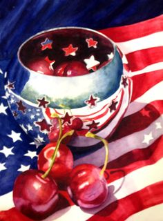 Fine Art Marketplace : Liberty Bowl by Marsha Chandler - Artists Medium Style / Subject Liberty Bowl, Patriotic Images, Happy Birthday America, 4th Of July Celebration, Beautiful Fruits, Happy Memorial Day, Old Glory, Happy 4 Of July, Fruit Art
