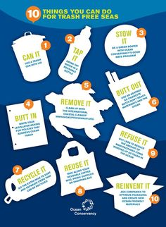 10 things you can do for trash-free seas. Credit: Ocean Conservancy