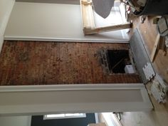 before picture of the dining room fireplace