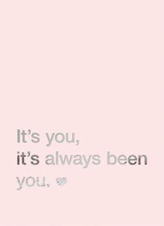 It's you, it's always been you! Via Zilverbvlauw!