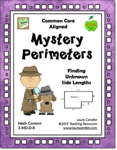 Mystery Perimeters Freebie from Laura Candler's Common Core Math Resources page