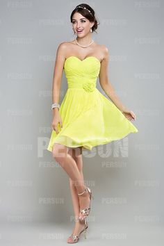 Ruched Sweetheart Chiffon Green A-line Knee Length Formal Dress Sale Online - DRESSESMALL