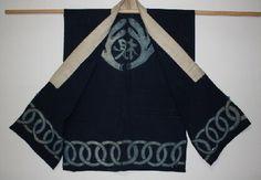 Edo Indigo dye samurai's jinbaori 陣羽織