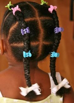 accessorized braids for little black girls