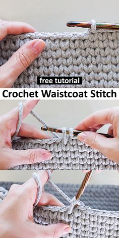 a tutorial to learn this easy crochet technique. Different Crochet Stitches, Easy Crochet Stitches, Crochet Simple, Knitting Stitches, Knitting Patterns, Crochet Patterns, Single Crochet Stitch, Crochet Stitch Tutorial, Crochet Needles