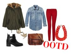 """Outfit of the day 19 January"" by shinsaito ❤ liked on Polyvore featuring Scotch & Soda, Topshop, Pull&Bear and MANGO"