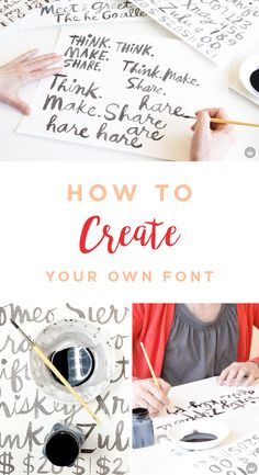 Whether you're redesigning your blog or website, or simply want to give hand-lettering a try, this tutorial will show you the ropes for creating your own font. Let the pros at Think.Make.Share., a blog from the creative studios at Hallmark, show you how it's done—and give you some pretty inspiration in the process!