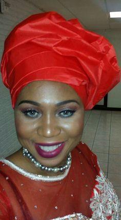 Igbo woman. African fashion. Nigerian style. Gele. Pearls. Okwy Arinze-Maduka