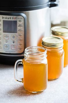 Instant Pot Bone Broth - perfectly nourishing and easy to make using your Instant Pot Pressure Cooker. Best of all, make with chicken, pork, beef or turkey.