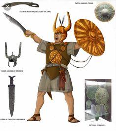 Celtiberian chief by noirpsychodellia on DeviantArt Spain History, History Of Portugal, Art History, Ancient Rome, Ancient Art, Ancient History, Carthage, Iron Age, Bronze Age Civilization