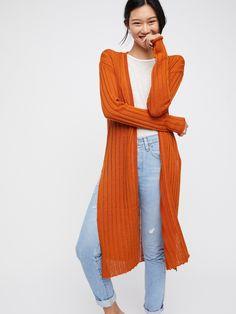 Cinnamon Ribby Rib Cardi at Free People Clothing Boutique