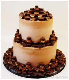 Peanut Butter Addiction Cake.  I wish I'd get an order for one of these  - it would be SO FUN to make!