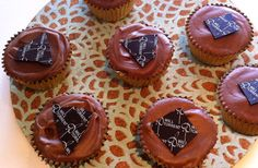 Mandarin and basil chocolate cupcakes, a recipe by Will Torrent. Made with mandarin olive oil, tastier and healthier than butter.
