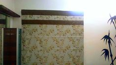 Double Contrasting Bordered Floral Roman Blind