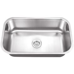 18-in x 30-in Satin Brush Single-Basin Stainless Steel Undermount Residential Kitchen Sink
