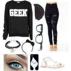 """""""Nerd Swag:P"""" by griffithhannah on Polyvore"""