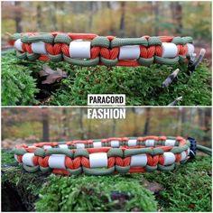 Halsband mit EM-Keramik zur Zeckenabwehr.  #dogs #paracord #keramik #hunde #halsband #collar