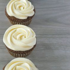 This is the best carrot cupcake with cream cheese frosting I ever made and tasted. I like to have a sort of equal ratio of frosting and cupcake if I'll be using cream cheese frosting. Piling them so high on top will overpower the taste of the cupcake. - www.punkettia.com Cupcakes With Cream Cheese Frosting, Carrots, Food Photography, Desserts, Top, Tailgate Desserts, Deserts, Carrot, Postres