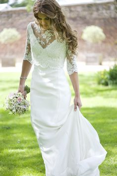 Understated chic, utterly stunning wedding dresses   Loiuse Selby