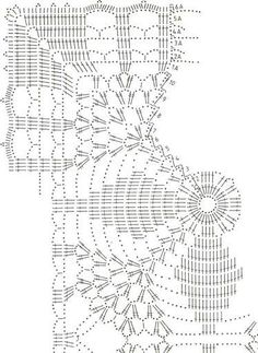 Large Square Motif With Lace - Diy Crafts - Knit & Share Filet Crochet, Crochet Doily Diagram, Crochet Chart, Crochet Squares, Thread Crochet, Crochet Bedspread Pattern, Crochet Motif Patterns, Crochet Table Runner, Crochet Tablecloth