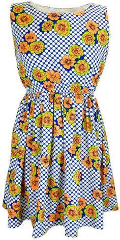 60s Retro Floral Dress
