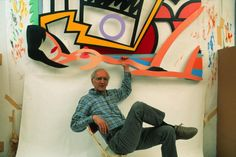 "artistandstudio: ""Pop artist Tom Wesselmann his Bowery Studio, 1992. Photo by Thomas Hoepker"""