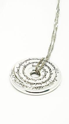 Psalm 23 Prayer Wheel by David J. David J, Psalm 23, Thoughtful Gifts, Washer Necklace, Prayer, Concept, Jewellery, Pendant, Beautiful