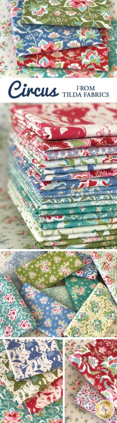 Circus is a darling collection by Tone Finnanger for Tilda available at Shabby Fabrics