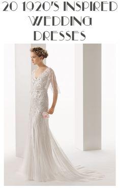 20 1920's Inspired Wedding Dresses