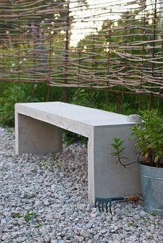 Love that concrete bench!