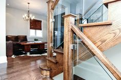 Vaughan House - Design Spec Building Group #modernstairs #glassstairs