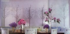 love the wallpaper for a dining room