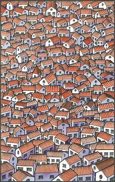 39 Ideas For Illustration Art Design Draw Pin Ups Vintage, Arte Popular, Art Graphique, Art Plastique, Little Houses, Textures Patterns, Art Patterns, Home Art, Printmaking