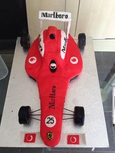 First ever birthday cake I made - formula 1 car