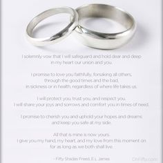Christian Grey's Wedding Vows ❤