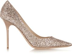 Jimmy Choo Abel Glittered Leather Pumps