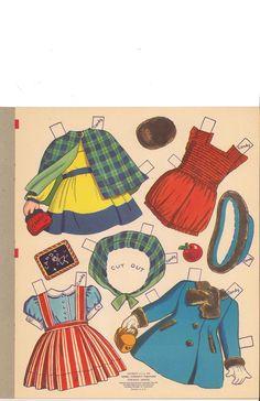Big 'n' Easy Paper Dolls 'n' Clothes by Charlot Byi (2 of 8), Merrill #344210: Sandy & Candy