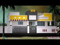 House front elevation single floor new ideas Single Floor House Design, Duplex House Design, House Front Design, Front Elevation Designs, House Elevation, Indian House Exterior Design, House Construction Plan, Model House Plan, Indian House Plans