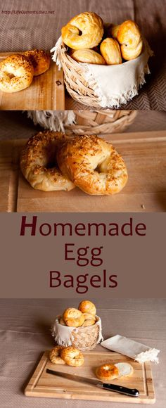 Homemade Egg Bagels are really fun to make at home! Try them with for family for a special breakfast, or just for any ol' day!
