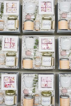 Spa-Themed Curated Client Gift Boxes for Branding & Web Design Business Ribbon & Ink Best Bridesmaid Gifts, Bridesmaid Gift Boxes, Bridesmaid Proposal, Wedding Welcome Gifts, Wedding Gifts, Gift Box Design, Curated Gift Boxes, Realtor Gifts, Client Gifts